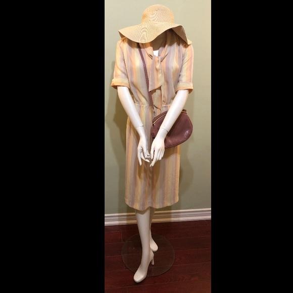 """Vintage """"sorbet"""" colored dress"""